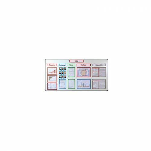 OFFICE AKKTIV Magnetische Infotasche - DIN A4, BxH 225 x 312 mm, VE 30 Stk - Office