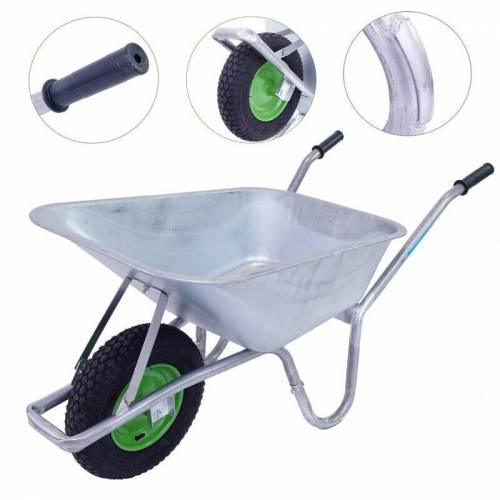 BAUMARKTPLUS TrutzHolm® Schubkarre 100l Bauschubkarre Gartenschubkarre Schiebkarre