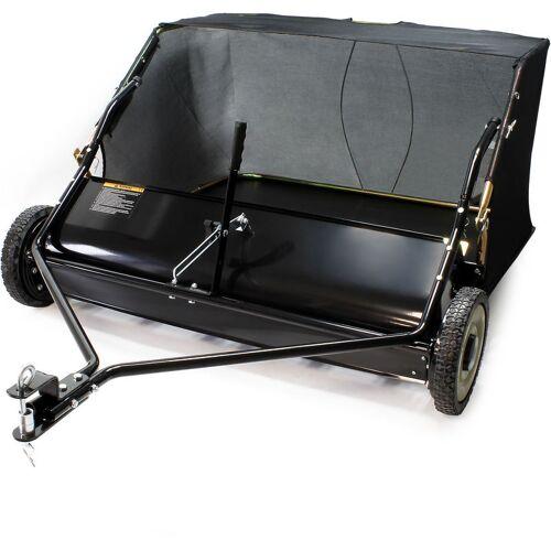 WILTEC Rasenkehrmaschine für Aufsitzmäher mit 120cm Arbeitsbreite und