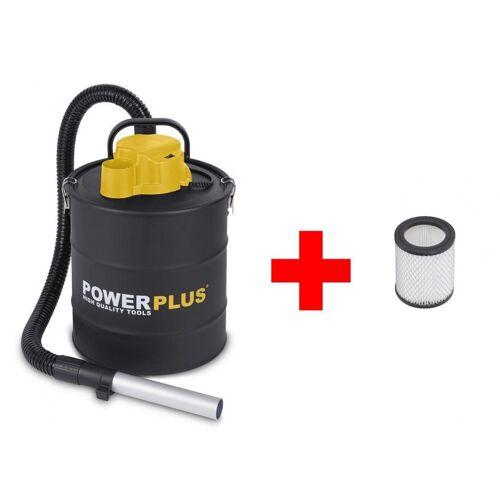POWERPLUS Set Aschesauger + Filter Kaminsauger Ascheschlucker Filter Aludüse 1200