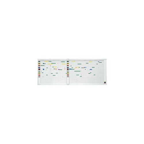 MAGNETOPLAN ® Jahresplaner-Set - 7-Tage-Woche - für 80 Mitarbeiter Jahresplaner