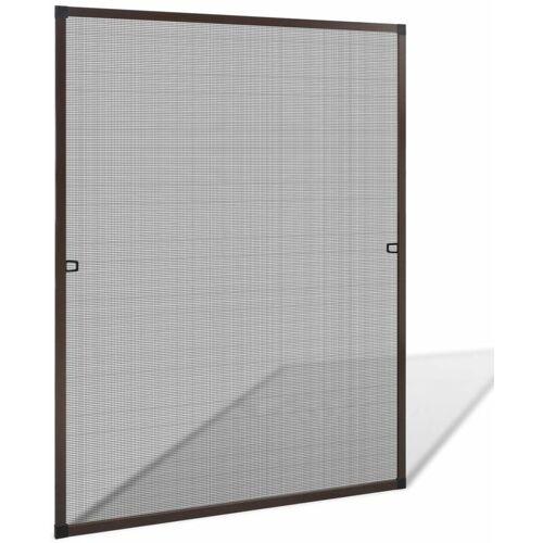 YOUTHUP Insektengitter für Fenster 100 x 120 cm braun