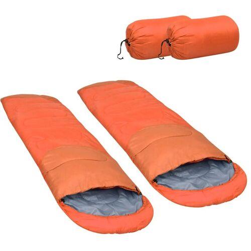VIDAXL Leichte Schlafsäcke 2 Stk. Orange 15? 850g