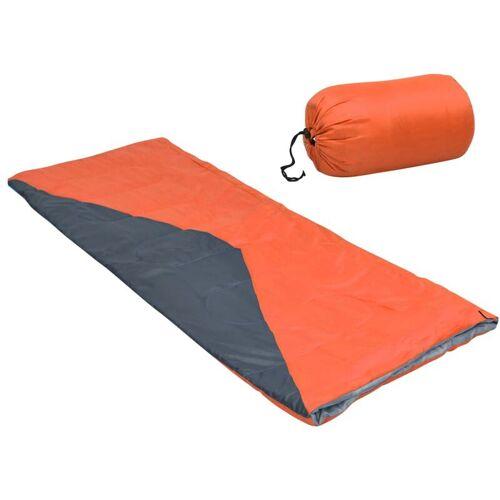 VIDAXL Leichte Umschlag-Schlafsäcke 2 Stk. Orange 1100g 10°C