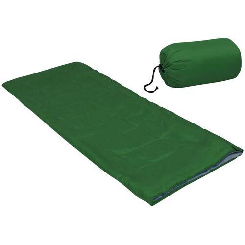 VIDAXL Leichter Umschlag-Schlafsack für Kinder Grün 670g 15°C