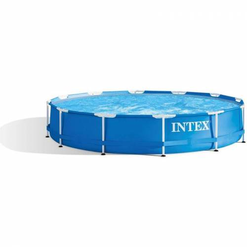 INTEX Metal Frame Pool Swimmingpool Familienpool Ø 366 cm 28210