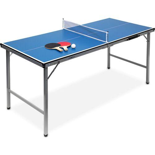 RELAXDAYS Klappbare Tischtennisplatte, HBT: 71 x 150 x 67 cm, tragbar, Netz,