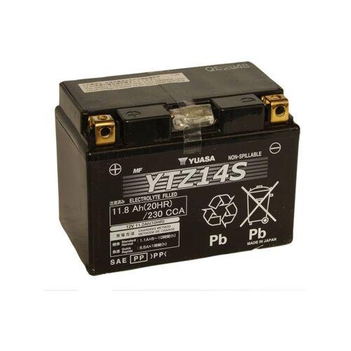 YUASA Motorrad-Batterie YTZ14S versiegelt AGM 12V / 11.2AH - Yuasa