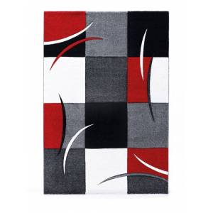 Designteppich Opal 200 x 290 cm Rot Polypropylen