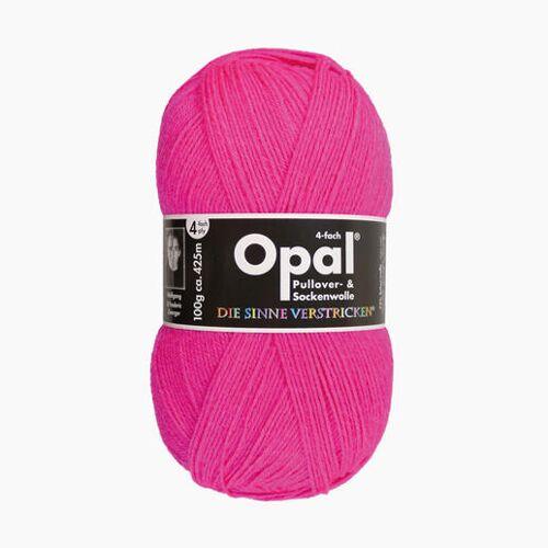 Opal Sockenwolle Uni 4-fach von Opal, Neon-Pink