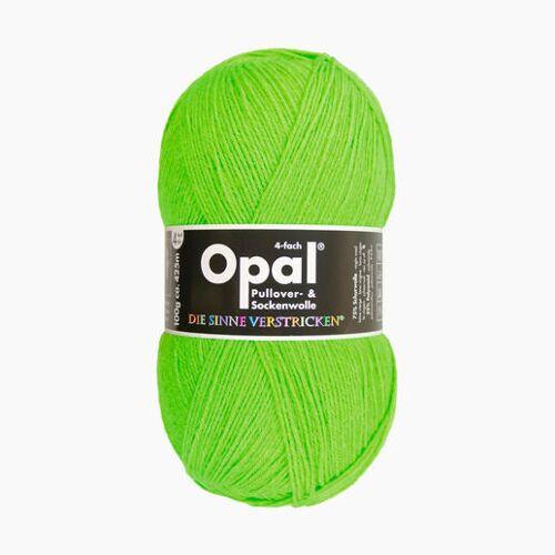 Opal Sockenwolle Uni 4-fach von Opal, Neon-Grün