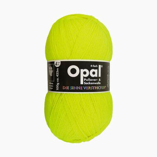 Opal Sockenwolle Uni 4-fach von Opal, Neon-Gelb