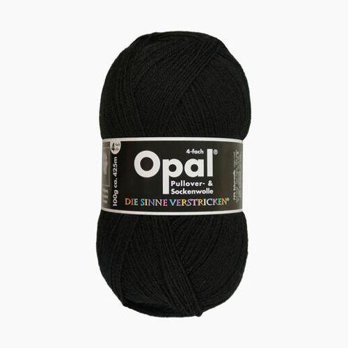 Opal Sockenwolle Uni 4-fach von Opal, Schwarz