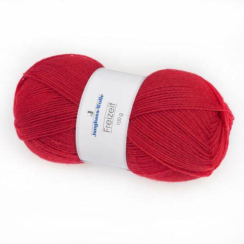 Junghans-Wolle Sockenwolle Freizeit uni, 4-fädig von Junghans-Wolle, Rot