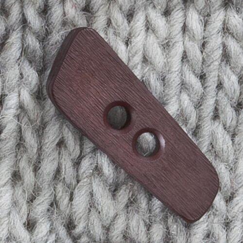 Braun Knebelknopf aus Kunststoff, Braun, 40 mm, 1 Stück