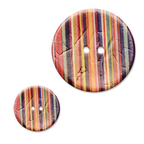 Jim Knopf Streifenknopf, Ø 23 mm