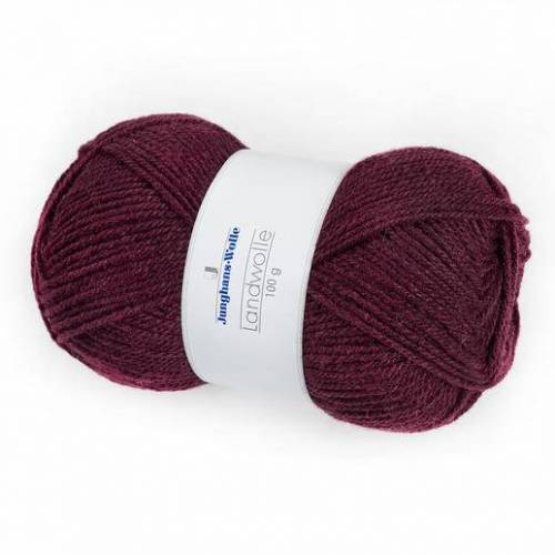 Junghans-Wolle Landwolle von Junghans-Wolle, Weinrot