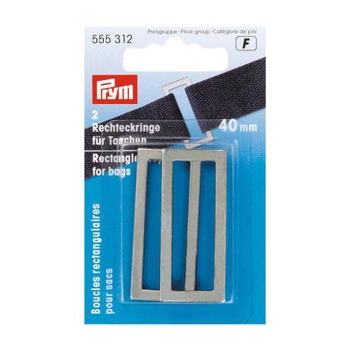 Prym 2 Rechteckringe für Taschen, 40 mm