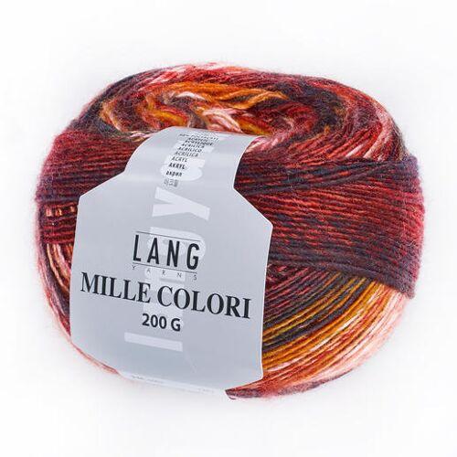 LANG Yarns Mille Colori 200 g von LANG Yarns, Weinrot/Orange/Creme