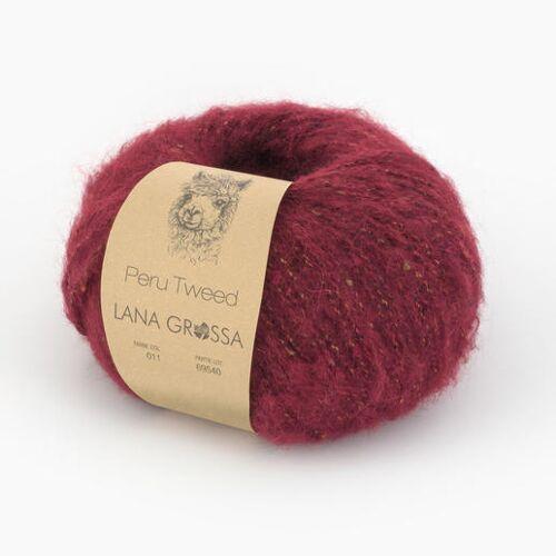 Lana Grossa Peru Tweed von Lana Grossa, 11 Ziegelrot, Ziegelrot