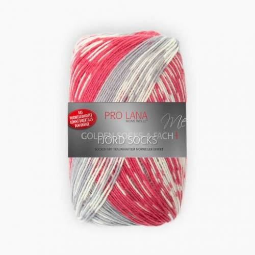 Pro Lana Fjord Socks von Pro Lana, Rot Color