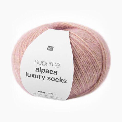 Rico Design Sockenwolle Superba Alpaca Luxury Socks von Rico Design, Rosa