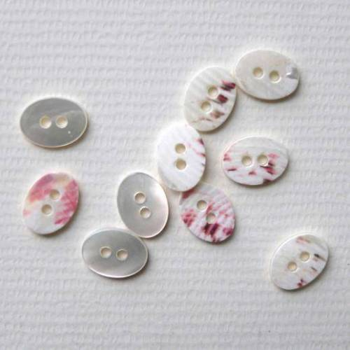 Perlmuttknopf, Ø 12 mm, 1 Stück