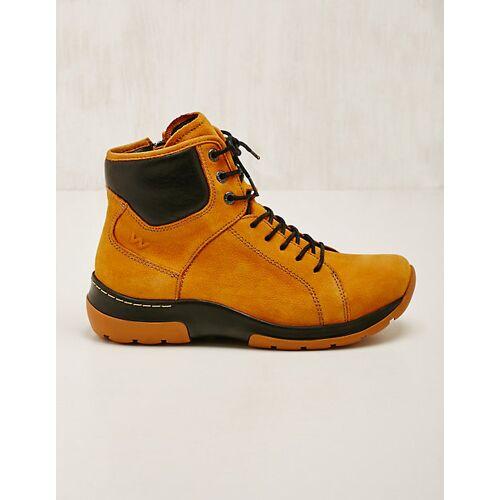 Wolky Damen Leder-Stiefeletten Ambient ocker Boots