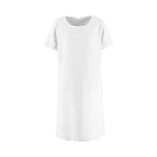 Deerberg Damen Leinen-Kleid Maxime weiß - auch in Übergrößen