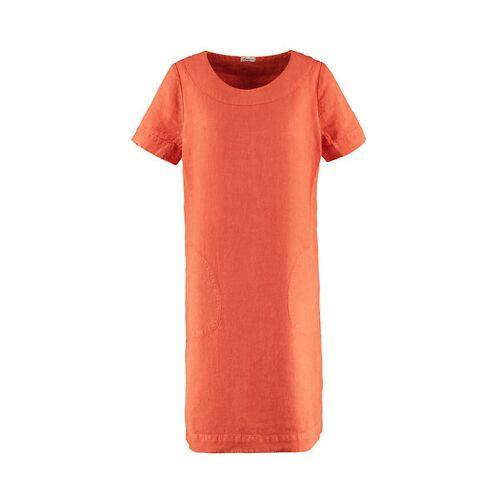 Deerberg Damen Leinen-Kleid Maxime chili - auch in Übergrößen