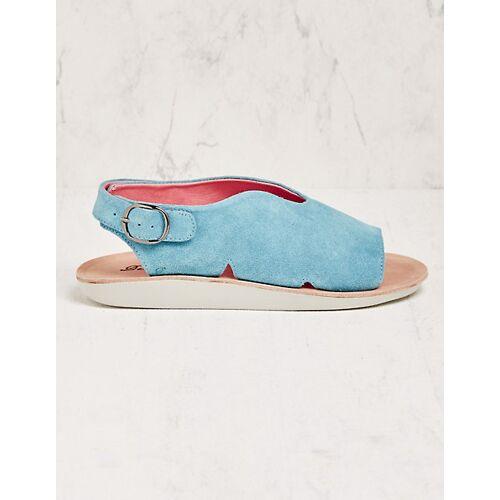 Deerberg Damen Sandalen Estrid hellblau sandaletten