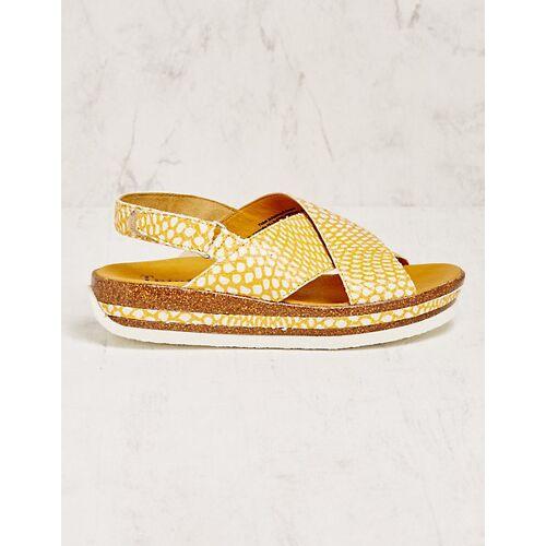 Think Damen Sandalen Nakine gelb sandaletten