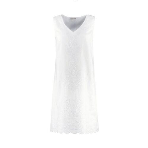 Deerberg Damen Leinen-Kleid Fumane weiß - auch in Übergrößen