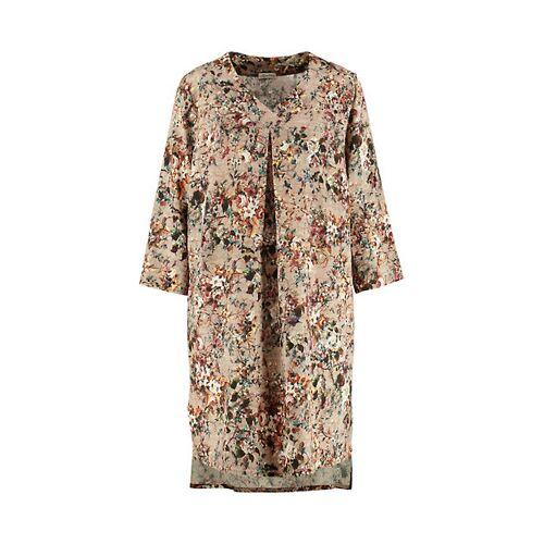 Deerberg Damen Druck-Kleid Catiana braun - auch in Übergrößen