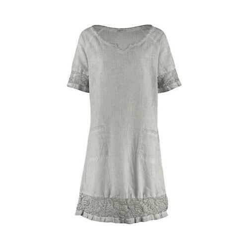 Deerberg Damen Kleid Kimela grau-washed - auch in Übergrößen