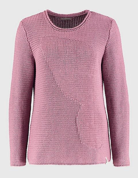 Deerberg Damen Baumwoll-Pullover Caren rot - auch in Übergrößen