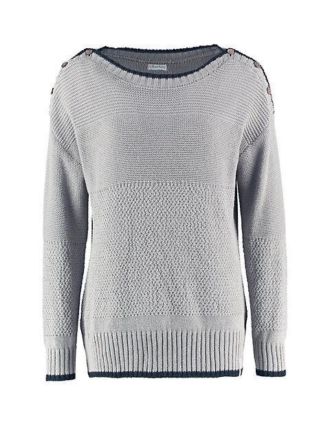 Deerberg Damen Baumwoll-Pullover Yordana kitt Sweatshirt - auch in Übergrößen