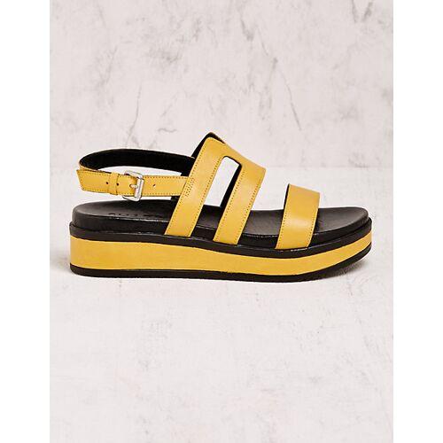 Shabbies Amsterdam Damen Sandalen Arbo gelb sandaletten