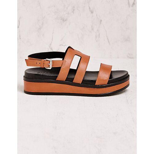 Shabbies Amsterdam Damen Sandalen Arbo braun sandaletten