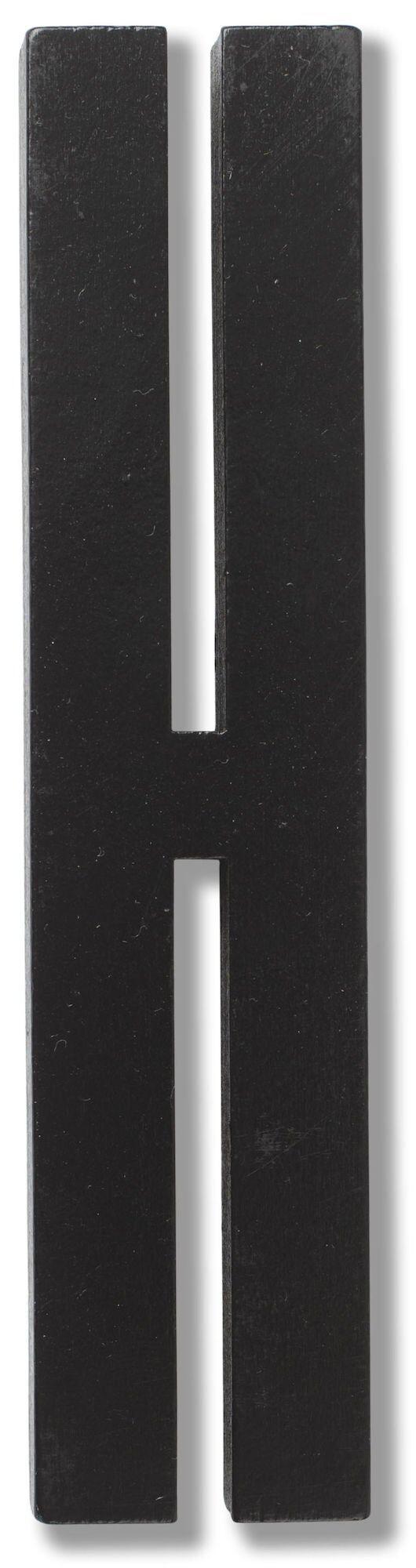 Design Letters Buchstabe Holz, Black H