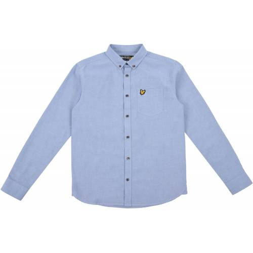 Scott Lyle & Scott Junior Oxford Hemd, Sky Blue 8-9 Jahre