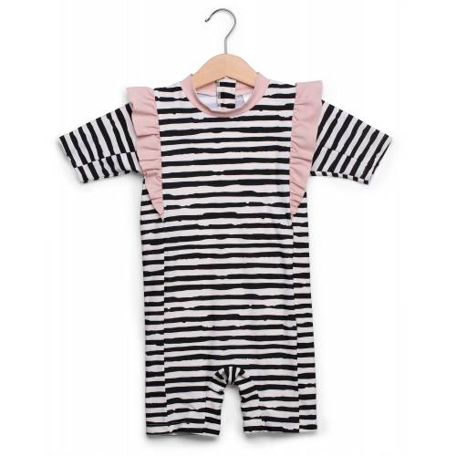 Petite Chérie Atelier UV-Anzug, Gestreift/Pink 134-140