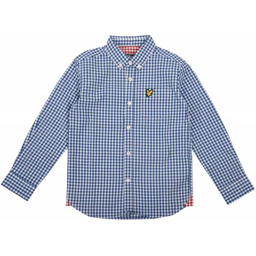 Scott Lyle & Scott Junior Gingham Check Hemd, True Blue 8-9 Jahre