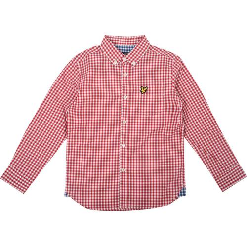 Scott Lyle & Scott Junior Gingham Check Hemd, Royal Red 3-4 Jahre