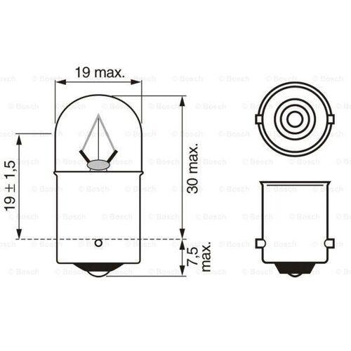 Bosch Glühbirnen  1 987 302 505 Glühbirne,Birnen,Birne