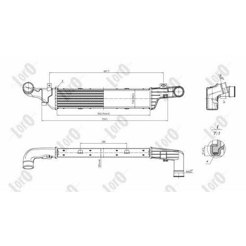 ABAKUS Intercooler MERCEDES-BENZ 054-018-0013 2105001200,2105001800,A2105001200  A2105001800