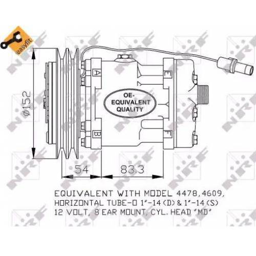 NRF Kompressor  32756 Klimakompressor,Klimaanlage Kompressor