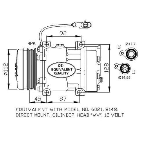 NRF Kompressor  32759 Klimakompressor,Klimaanlage Kompressor