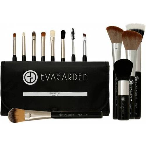 Eva Garden Make-Up-Pinsel-Set mit Tasche Pinselset