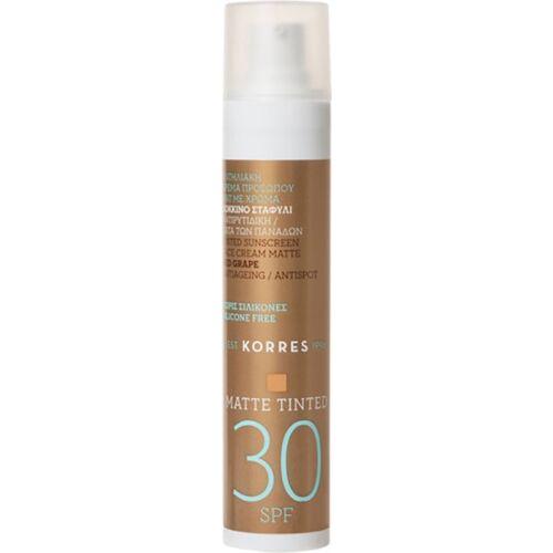 Korres Red Grape Sunscreen Face Cream Matt SPF 30 50 ml Sonnencreme